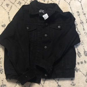 NWT $50 urban outfitters BDG black denim jacket S